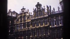 1967: a very large ornately designed building with beautiful architecture PARIS Stock Footage
