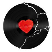 Broken Heart Vinyl Record Piirros