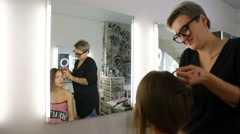 Professional stylists working on a way Stock Footage