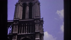 1967: vehicles merging into traffic. PARIS FRANCE Stock Footage