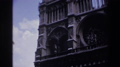 1967: old building beautiful architecture clouds in sky amazing weather  Stock Footage