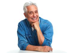 Aged man portrait. Stock Photos