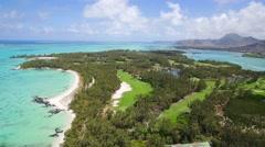 Aerial View: Ile aux Cerfs (Leisure Island), Mauritius Stock Footage