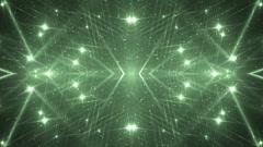 VJ Fractal green kaleidoscopic background. Stock Footage