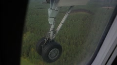 View of the chassis through an airplane window Stock Footage
