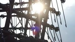 Hanging iron rod, video, full hd Stock Footage