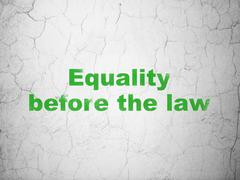 Politics concept: Equality Before The Law on wall background Stock Illustration