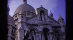 1967: prestigious, religious building viewing. PARIS FRANCE Stock Footage