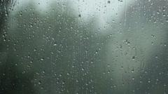 Rain On Window,slow motion Stock Footage