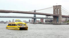 NY Water Taxi and Shark Circle Line New York Stock Footage