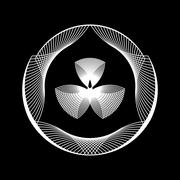 White Abstract Fractal Shape Stock Illustration