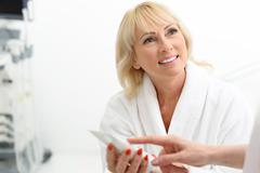 I advise you this cosmetic product Stock Photos