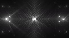 VJ Fractal grey kaleidoscopic background. Stock Footage