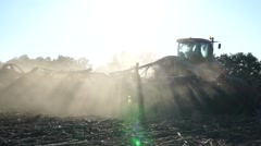 Drop shadow from the tractor Stock Footage