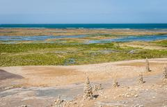 Atlantic coast on the island of Ile de Re Stock Photos