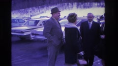 1966: two couples engaging in conversation. HOBOKEN NEW JERSEY Stock Footage