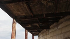 Under the old  pier Stock Footage