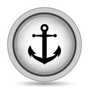 Anchor icon. Internet button on white background.. Piirros
