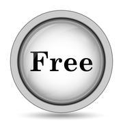 Free icon. Internet button on white background.. Stock Illustration