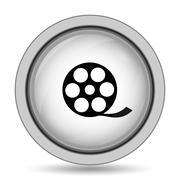 Video icon. Internet button on white background.. Stock Illustration