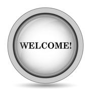 Welcome icon. Internet button on white background.. Stock Illustration