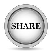 Share icon. Internet button on white background.. Stock Illustration
