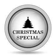 Christmas special icon. Internet button on white background.. Stock Illustration