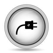 Plug icon. Internet button on white background.. Stock Illustration