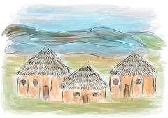 Ngorongoro crater Stock Illustration