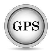 GPS icon. Internet button on white background.. Piirros