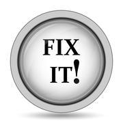 Fix it icon. Internet button on white background.. Stock Illustration