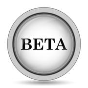 Beta icon. Internet button on white background.. Stock Illustration