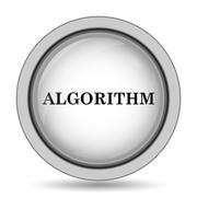 Algorithm icon. Internet button on white background.. Stock Illustration