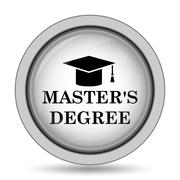 Master's degree icon. Internet button on white background.. Stock Illustration