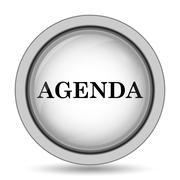 Agenda icon. Internet button on white background.. Stock Illustration