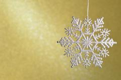 Shimmering diamond beautiful snowflakes. Stock Photos