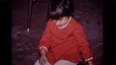 1966: girl excited on having a tea party. HOBOKEN NEW JERSEY Arkistovideo