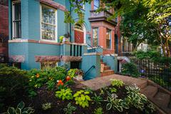 Houses near Adams Morgan, in Washington, DC. Stock Photos