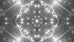 VJ Fractal grey kaleidoscopic background. Stock Footage
