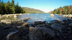 Jordan Pond time lapse Stock Footage