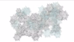 4k Snowflake snow chrismas flower design pattern background. Stock Footage
