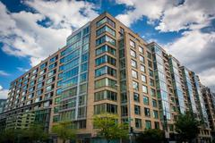 Modern building in the West End, Washington, DC. Stock Photos