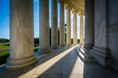 Pillars of the Thomas Jefferson Memorial, in Washington, DC. Stock Photos
