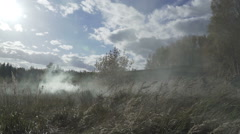 Military smoke go through the battle. Soldiers are attacking through smoke Stock Footage