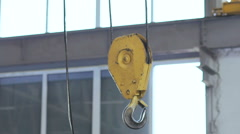 The engine hoist in workshop on the factory Stock Footage