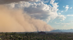 Sand Storm Time Lapse AZ Haboob Stock Footage