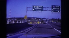 1967: cars driving on the freeway. ROCKAWAY BEACH NEW YORK Stock Footage
