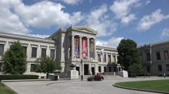 The Museum of Fine Arts, Boston, MA. Stock Footage