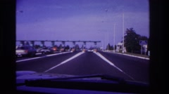 1967: traveling past the toll booth. ROCKAWAY BEACH NEW YORK Stock Footage