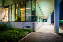 The exterior of the Embassy of Sweden at night, in Georgetown, Washington, DC Stock Photos